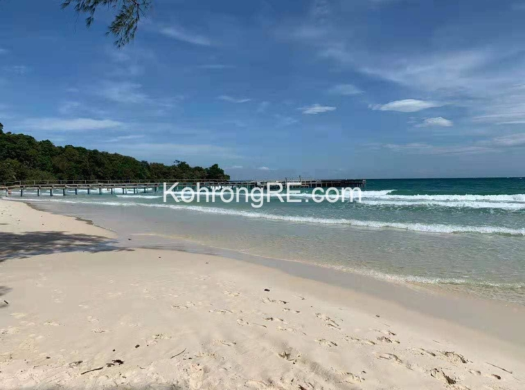 white sand beach, koh rong, coconut beach, land for sale