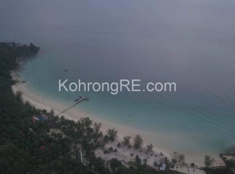 drone shooting, koh rong, coconut beach, land for sale