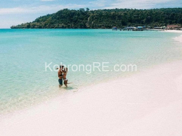 beachfront land for sale at Royal Beach in Koh Rong island, Cambodia, Hard title, white sand beach, Koh Rong property for sale, Koh Rong land for sale, Cambodia (1)